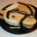 Gâteau tête de cheval profil