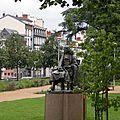 Clermont-Ferrand square Blaise Pascal statue
