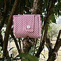 Mini sac à courses pliable fraises Nadine(2)