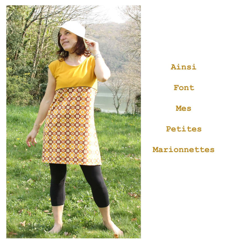 robe fleur jaune 3