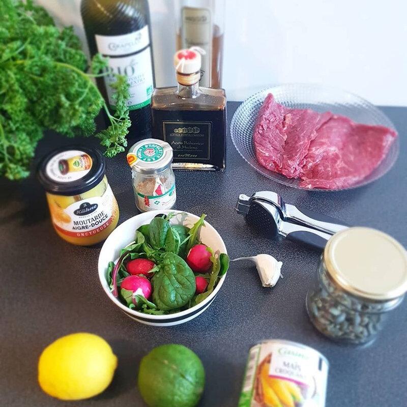 chez cathytutu tous encuisine cyril lignac salade de boeuf mariné delicieux en direct m6 trop bon onglet marinade
