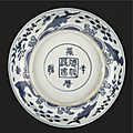 A Blue And White Dish, Wanli Mark And Period (1573-1620)