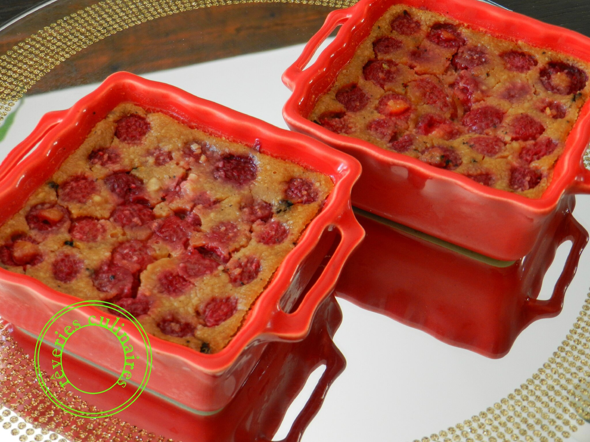 flan express aux framboises