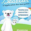 Twitter vous présente les nouveautés de l'appli pour enfants badabim