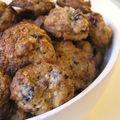 Biscuits au chocolat et aux canneberges