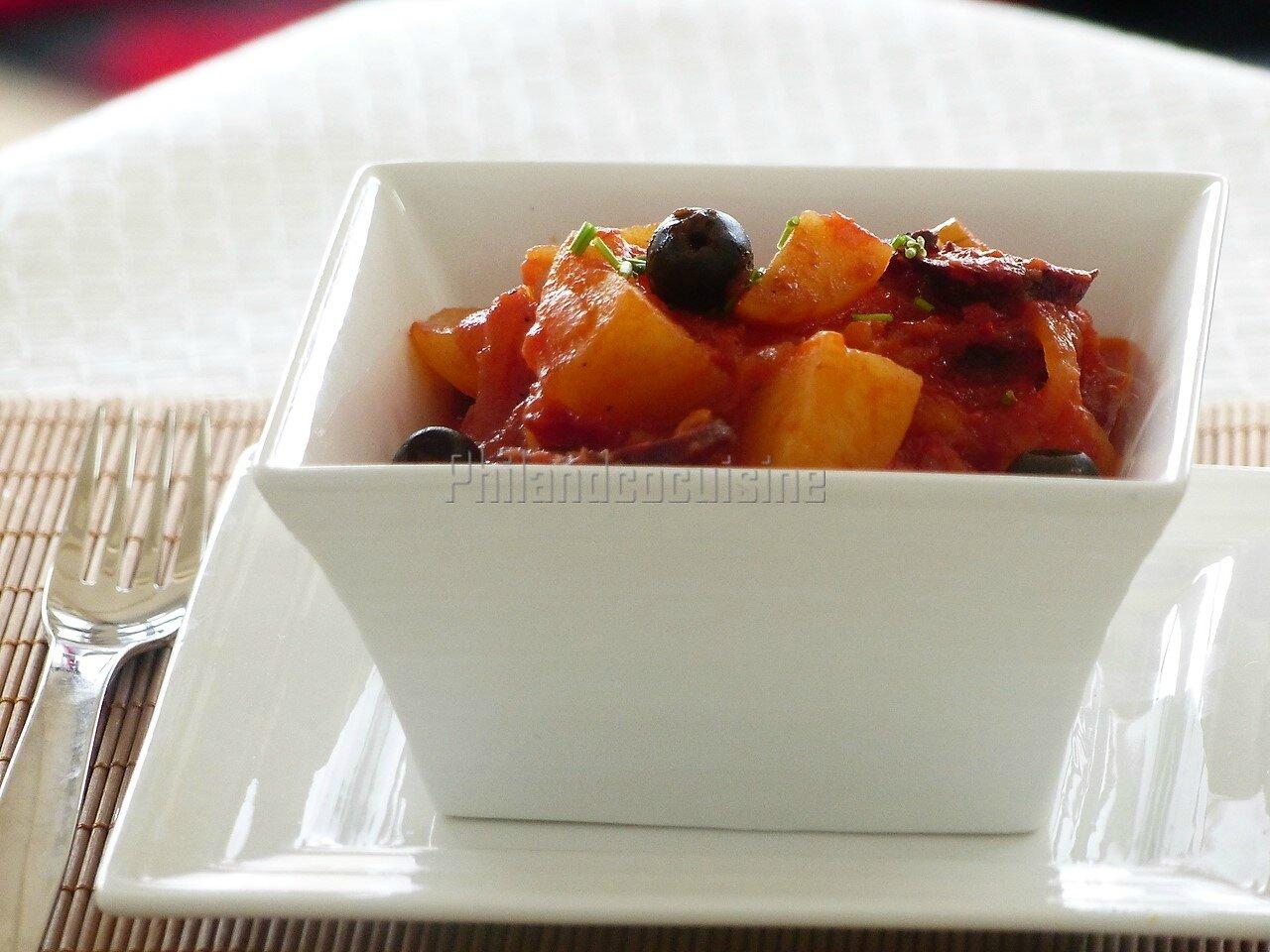 Ragoût de pommes de terre au chouriço portugais