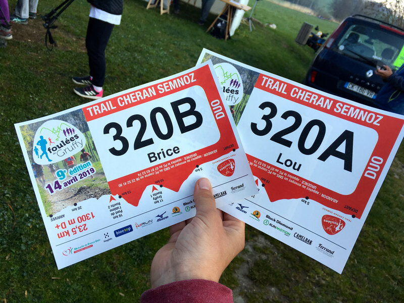 1er trail en duo !