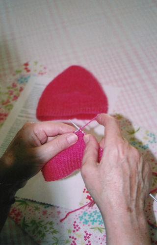 Mimie rose - tricoteuse