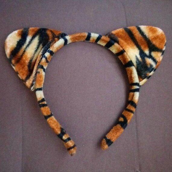 *Serre tête oreilles tigre