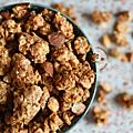 Grosses pépites de granola avoine-blé-orge-sésame-amandes à la purée d'amande & au sirop de riz