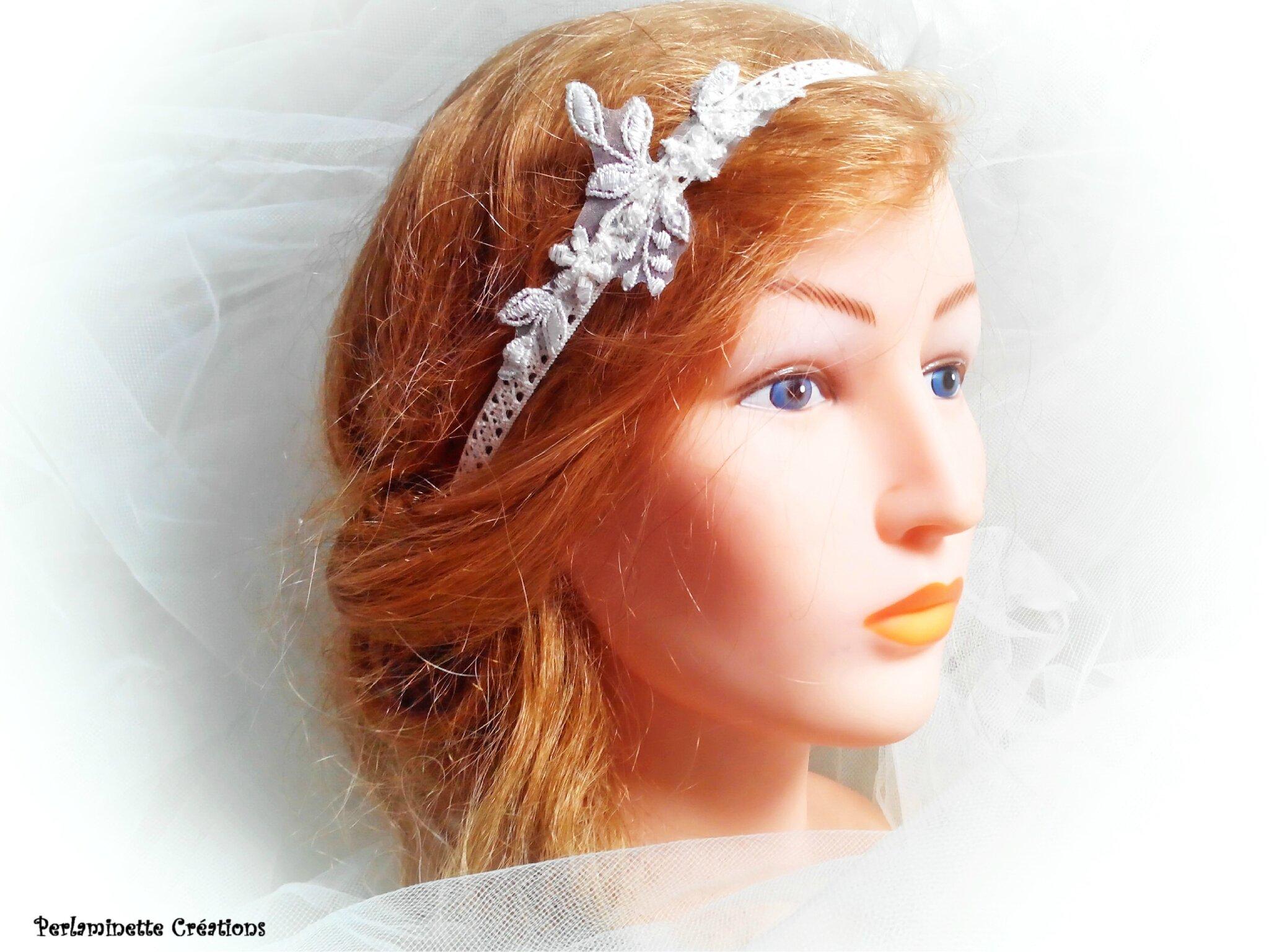 Headband pour futures mariées au style bohème chic