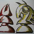 Graffitis autour du jeu d'échecs - 2
