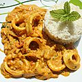 Curry d'encornet ou calamar