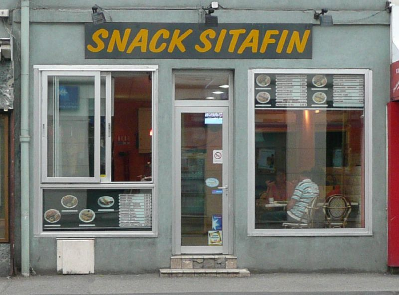 snack sitafin colmar devanture vitrine devanture bulent. Black Bedroom Furniture Sets. Home Design Ideas