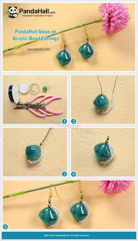 1-PandaHall Ideas on Acrylic Bead Earrings