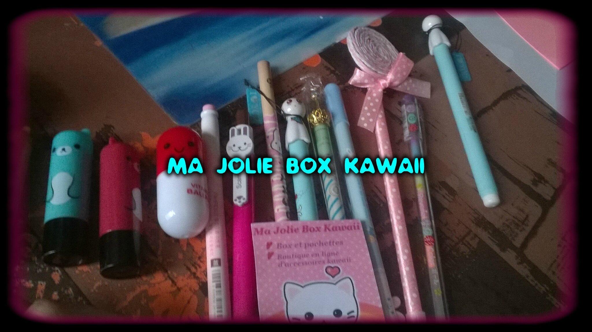 Ma jolie box kawaii - HAUL/TEST 2