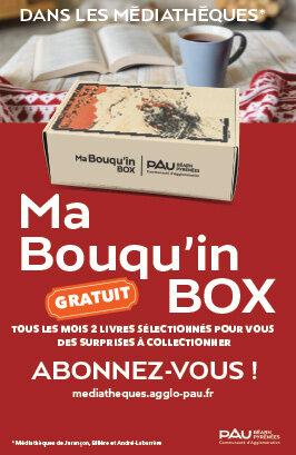 """""""Ma Bouqu'in Box"""", un service du Réseau des médiathèques de la Communauté d'Agglomération Pau Béarn Pyrénées"""