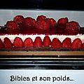 Bavarois fraise et chocolat blanc