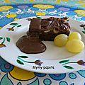 Gâteau brownie chocolat, chocolat, chocolat