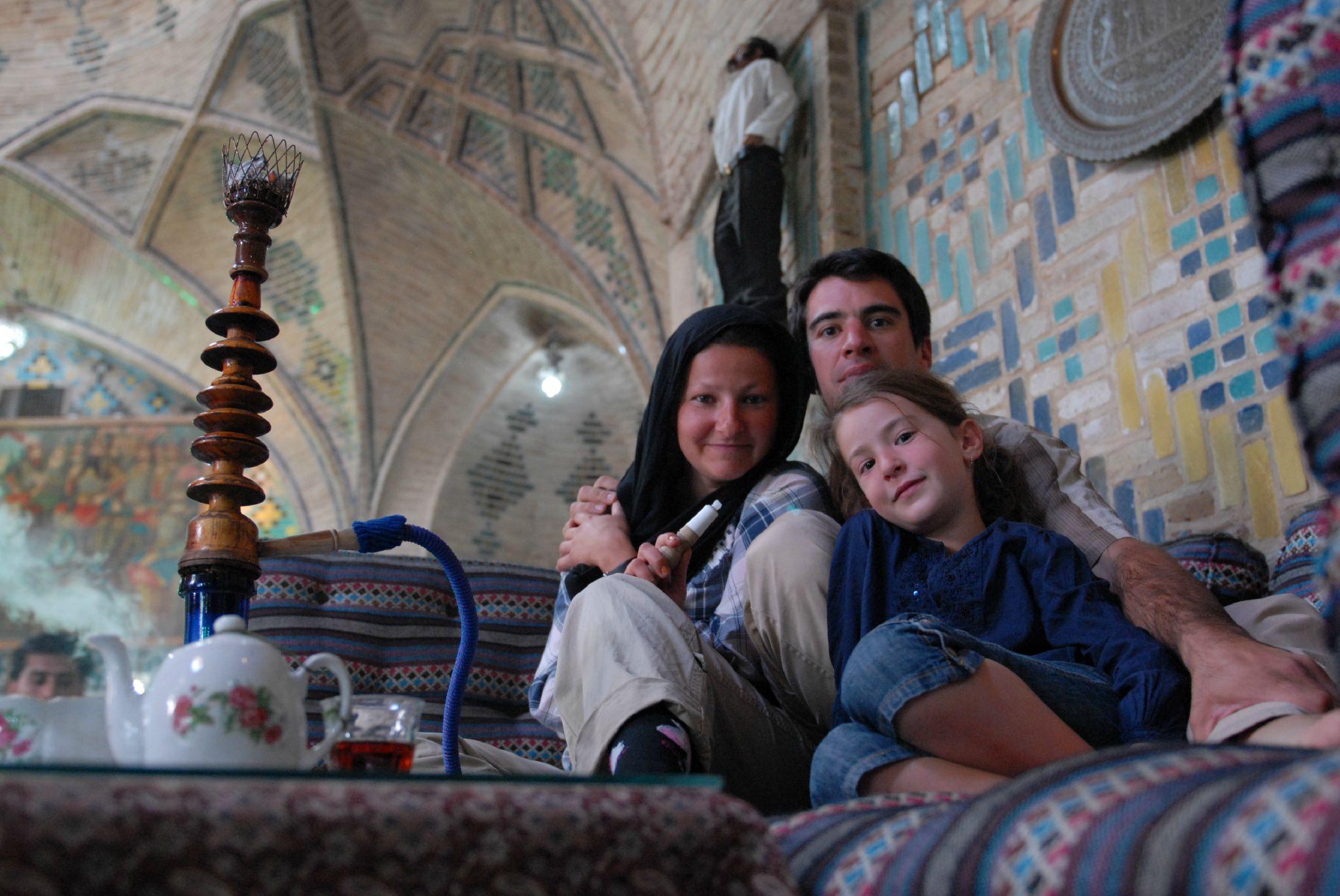 salon de thé dans le bazar de Kerman