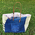 Sac sardine & cie collection jean/jute