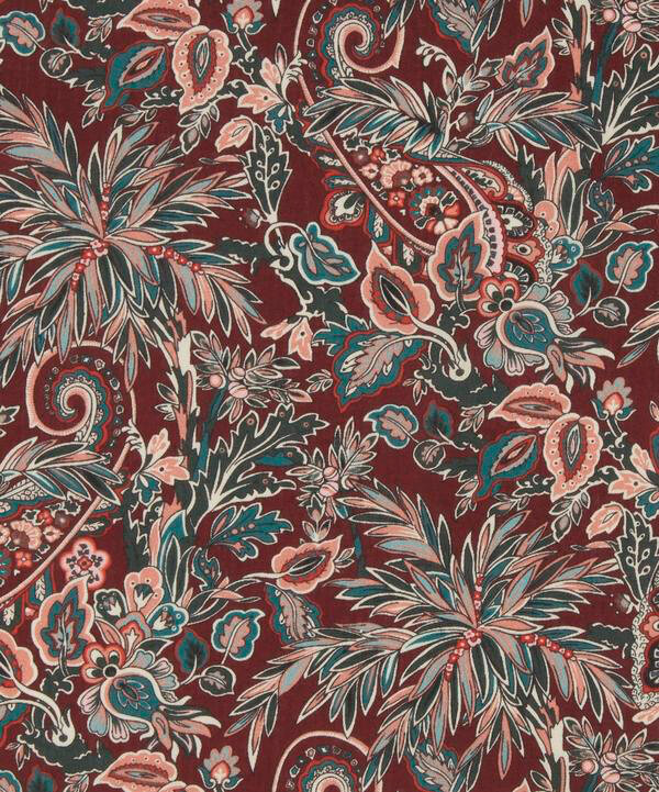 Far Away Paisley bordeaux