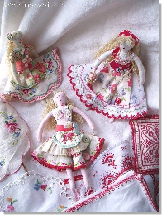 poupées de chiffon bohèmes