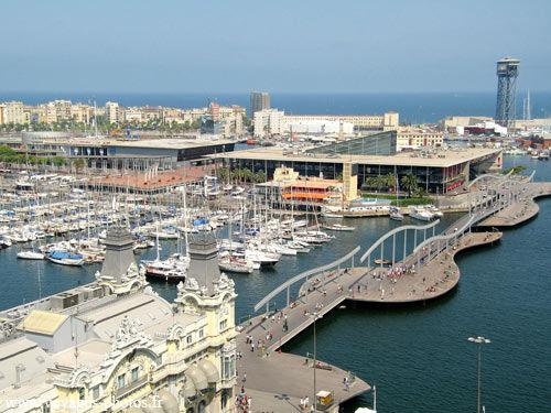 Le Port de Barcelone au bout de la Rambla