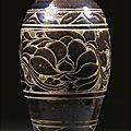 A 'lingwu' black-glazed sgraffito meiping, xixia dynasty (1038-1227)