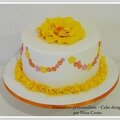 gateau anniversaire nimes Jaune rose 01