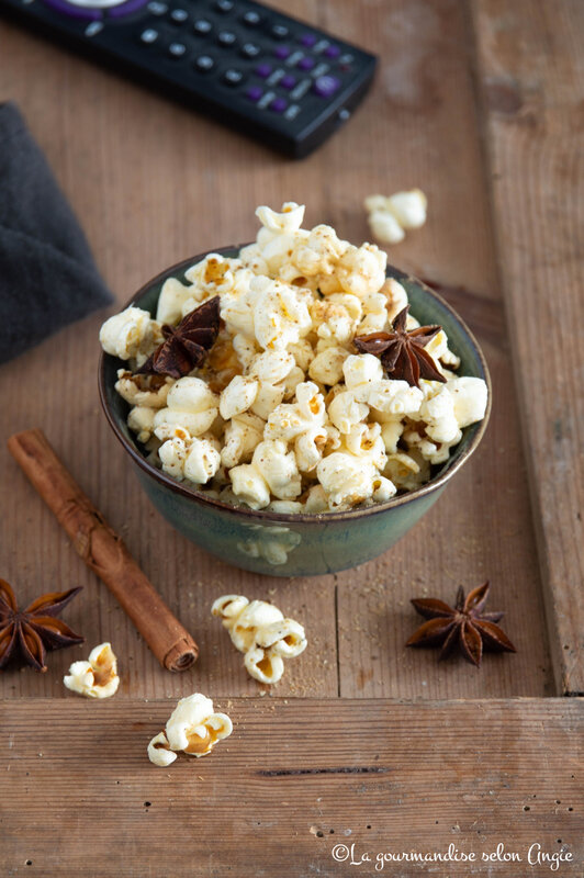 pop corn épices chaï