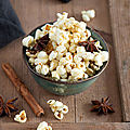 Pop corn aux épices chaï #vegan #glutenfree