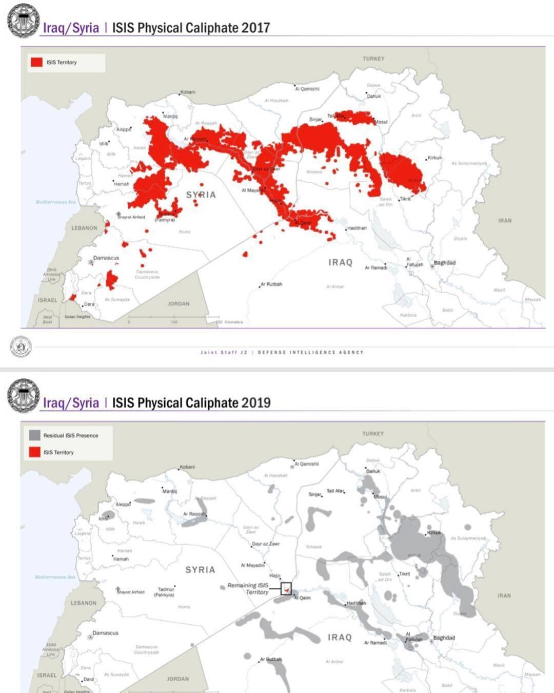 ISIS 2017 vs 2019