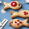 Biscuits sablés en forme de poissons