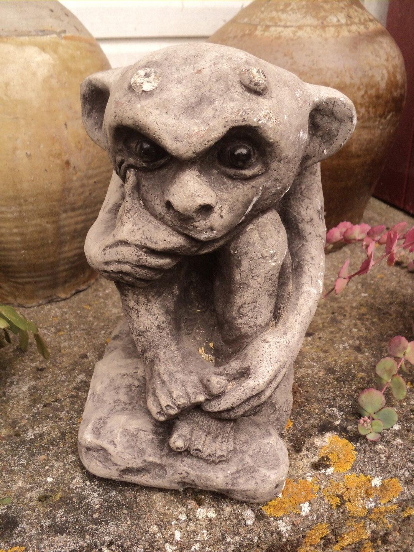 3416b4eb59fbf Sculpture Pierre Gargouille Diablotin. Décoration, cave, jardin, Cloître,  Chapelle, Château, Gothique, Médiévale.