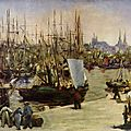 Manet, le port de Bordeaux
