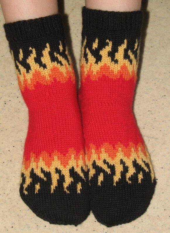 chaussettes flammes