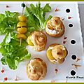 Petits choux mirabelles, fromage au gewurstraminer.............