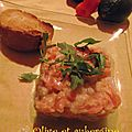Tartare de saumon et saint-jacques aux fruits de la passion