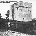 Vendée – angles tour de moricq à machicoulis du xv e siècle (forteresse de la mer)