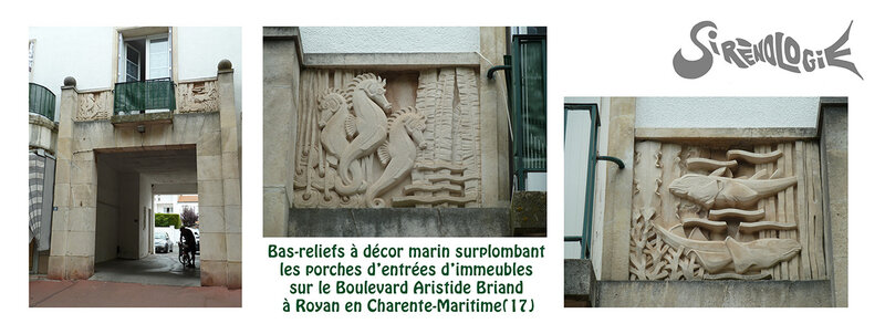 bas-reliefs marins du boulevard Aristide Briand à Royan