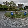 Rond-point à langeskov (danemark)