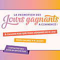 Jours gagnants chez stampin'up !