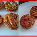 Tartelettes tatin de poivrons et oignons