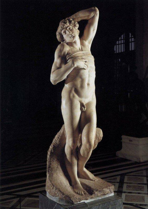 Michel Ange, Esclave, 1513, marbre, 229cm, Rome