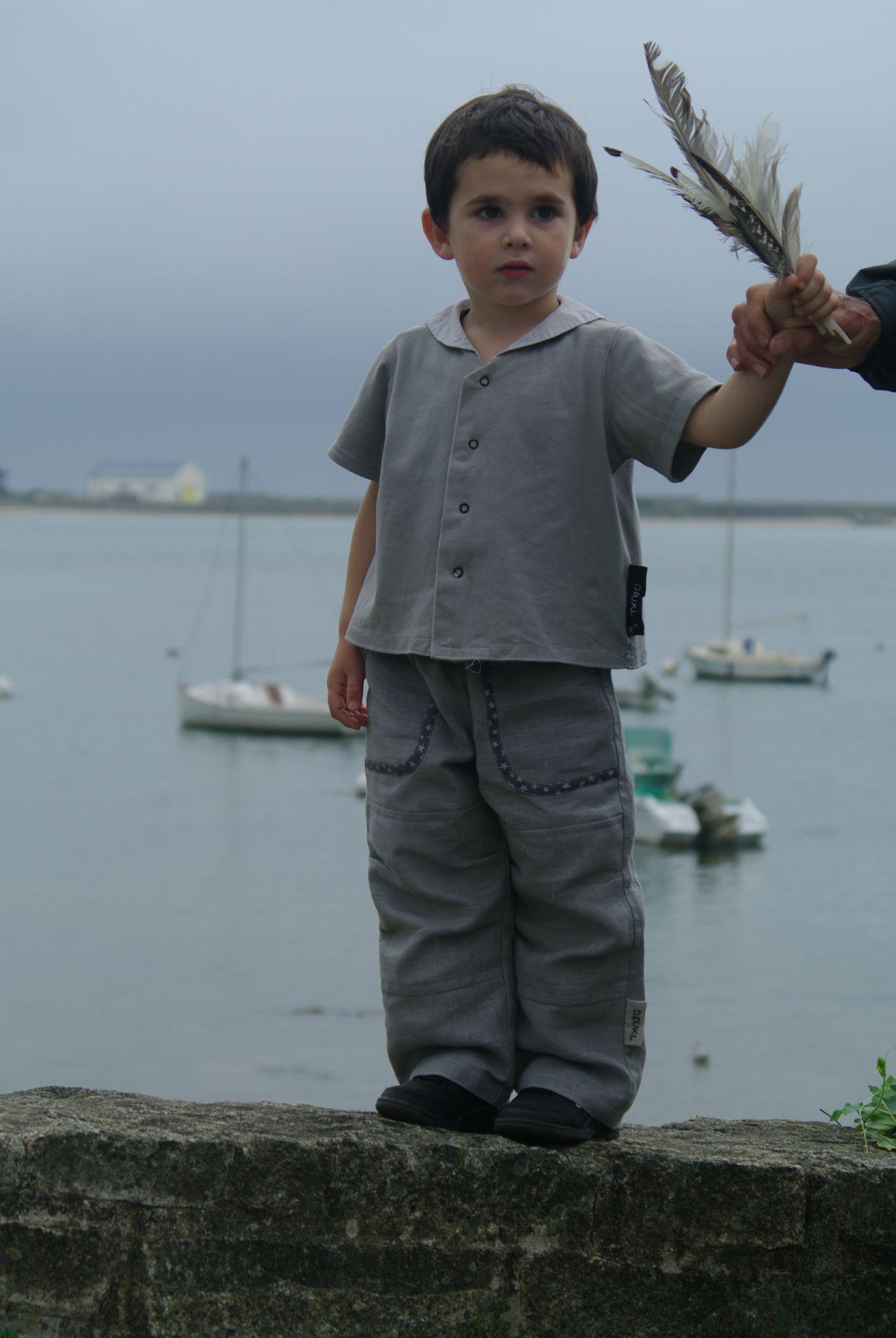 pantalon en lin garçon