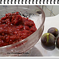 Compote figues framboises