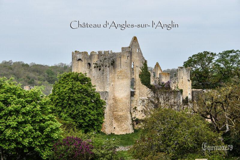 Château d'Angles-sur-l'Anglin surveille la frontière du Poitou