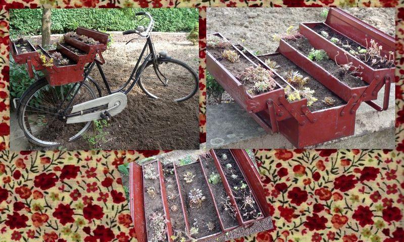 nouvelle vie pour le vieux vélo, déco de jardin - Photo de Les ...
