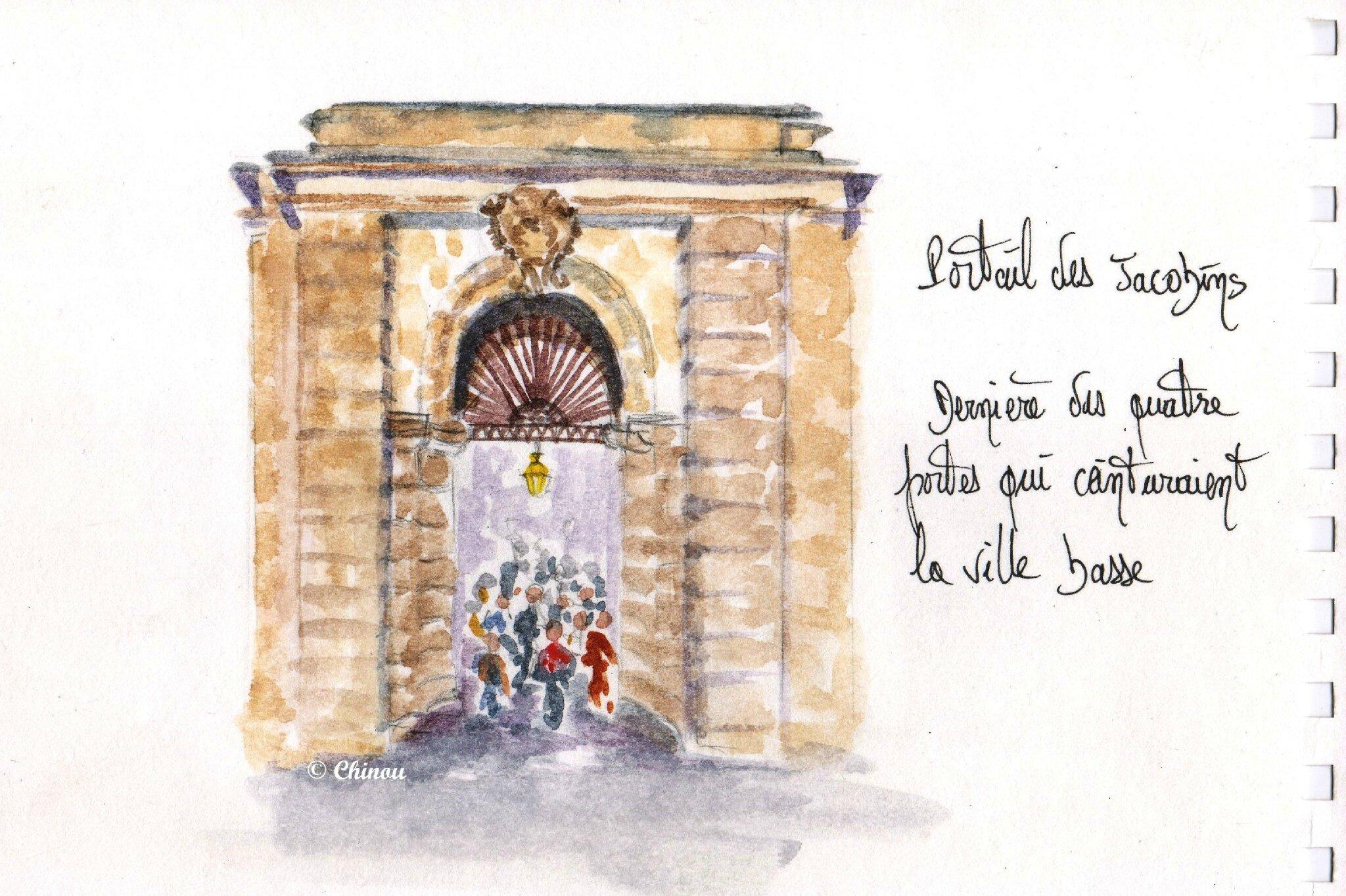 Portail des Jacobins Carcassonne